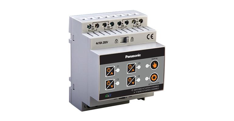 KNX Lighting 4 CH On – Off /Shutters 2 Motors