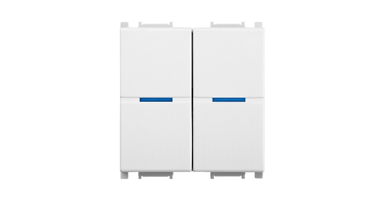 KNX Modular Switch 2 Gang-2M