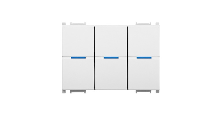 KNX Modular Switch 3 Gang-3M
